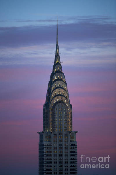 New Photograph - The Chrysler Building At Dusk by Diane Diederich