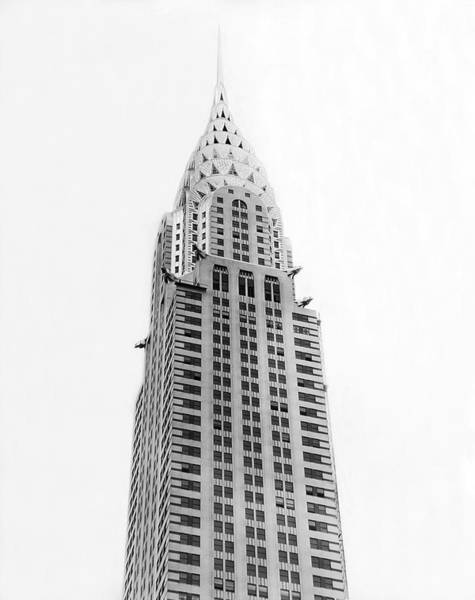 Photograph - The Chrysler Building by Underwood Archives