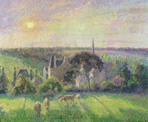 Painting - The Church And Farm Of Eragny by Camille Pissarro