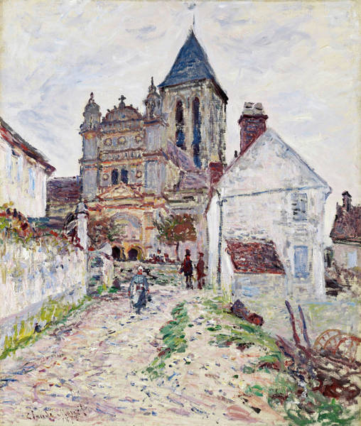 Vetheuil Wall Art - Painting - The Church At Vetheuil by Claude Monet
