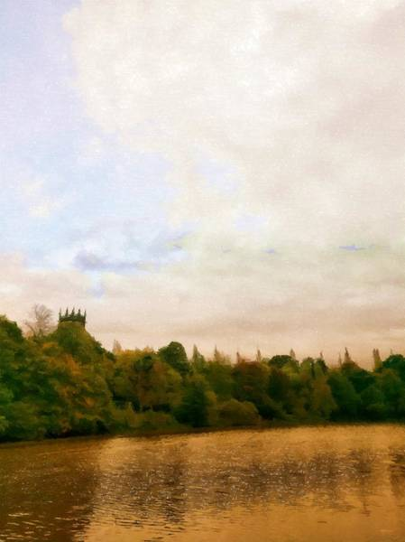 Mixed Media - The Church By Golden Ponds by Abbie Shores