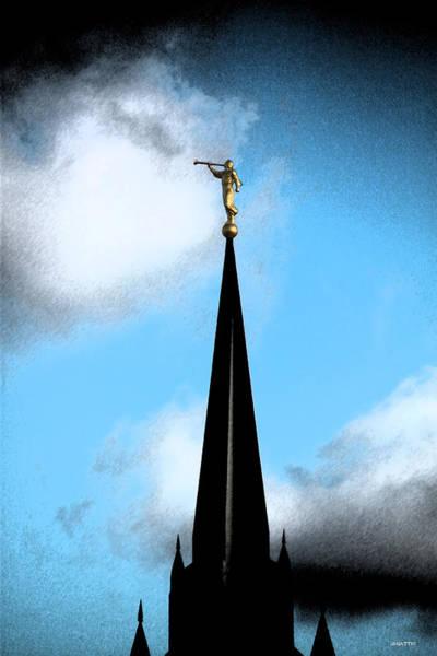 Digital Art - The Church by Jhiatt