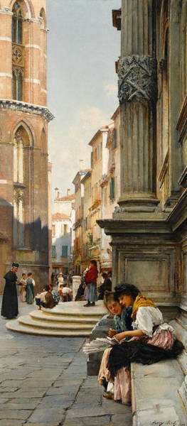 Victorian Era Painting - The Church Of The Frari And School Of San Rocco, Venice by Henry Woods