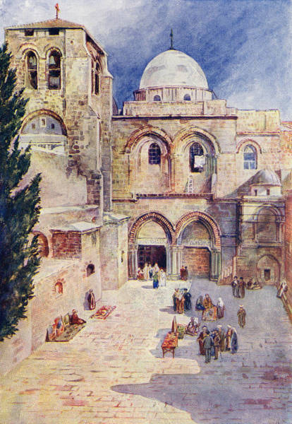 Wall Art - Drawing - The Church Of The Holy Sepulchre by Vintage Design Pics