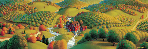 Folk Painting - The Cider Mill by Robin Moline
