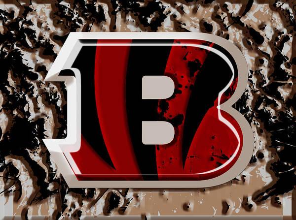 Atlanta Falcons Mixed Media - The Cincinnati Bengals 1a by Brian Reaves