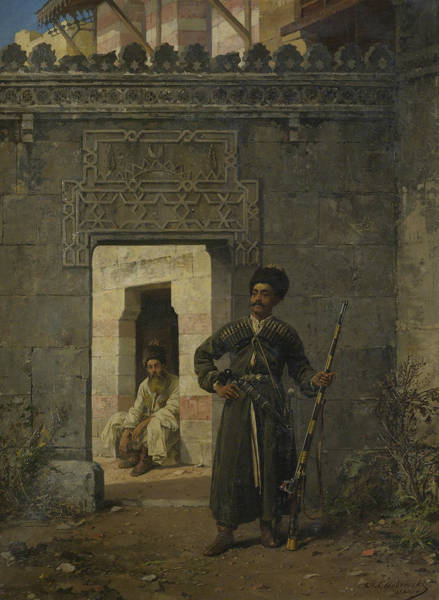 Painting - The Circassian Guards by Stanislaw Chlebowski