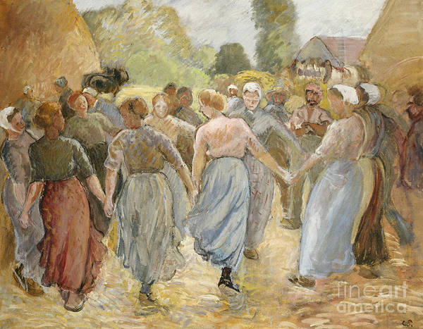 Wall Art - Painting - The Circle by Camille Pissarro