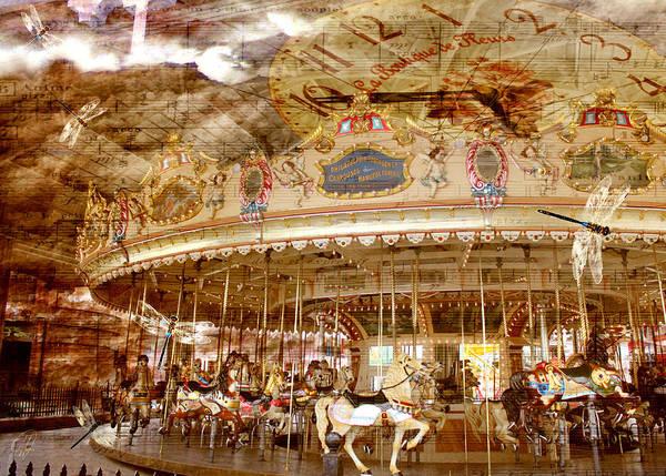 Carousel Digital Art - The Circle Game by Margaret Hormann Bfa