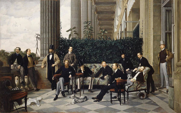 Fashion Plate Painting - The Circle Of The Rue Royale 1868 by James Tissot
