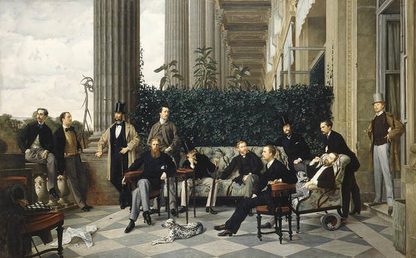 Painting - The Circle Of The Rue Royale by James Tissot