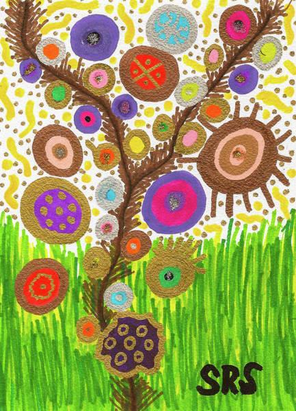 Drawing - The Circle Tree by Susan Schanerman