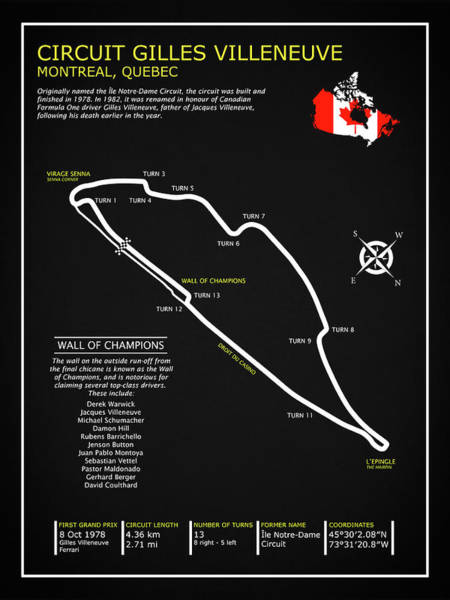 Wall Art - Photograph - The Circuit Gilles Villeneuve by Mark Rogan
