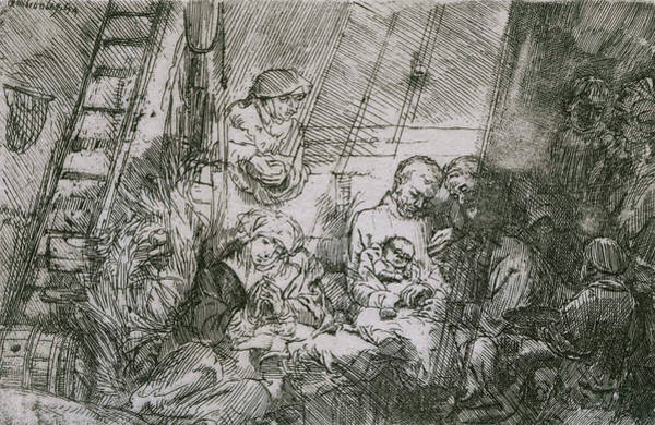 Relief - The Circumcision In The Stable by Rembrandt