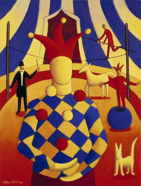 Trapeze Painting - The Circus Blind Juggler by Alan Kenny