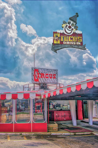Photograph - The Circus Drive In Restaurant And Sign by Gary Slawsky