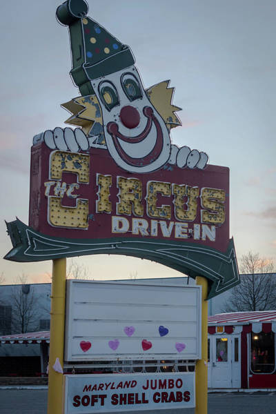 Photograph - The Circus Drive In Sign Wall Township Nj by Terry DeLuco