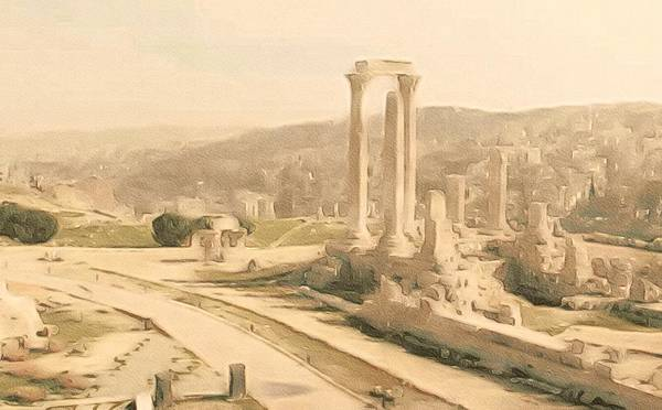 Photograph - The Citadel At Amman by Susan Maxwell Schmidt