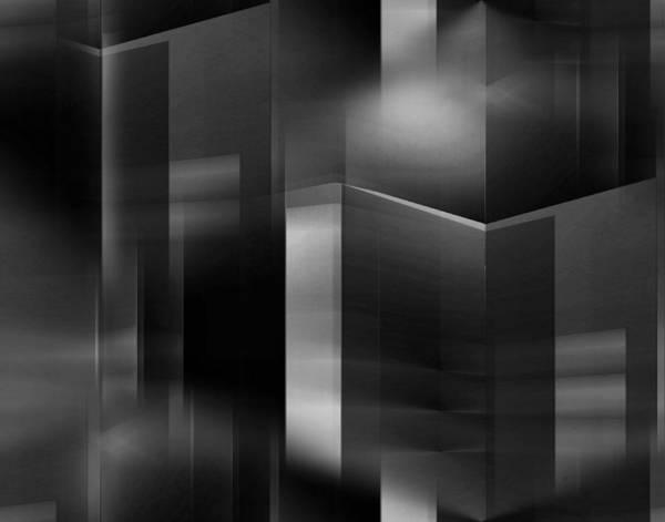 Light And Shadow Digital Art - The City At Night 3 by John Krakora