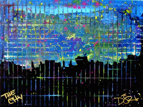 Painting - The City by Dane Newton