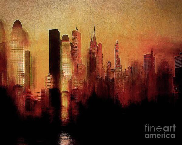 Digital Art - The City by Edmund Nagele