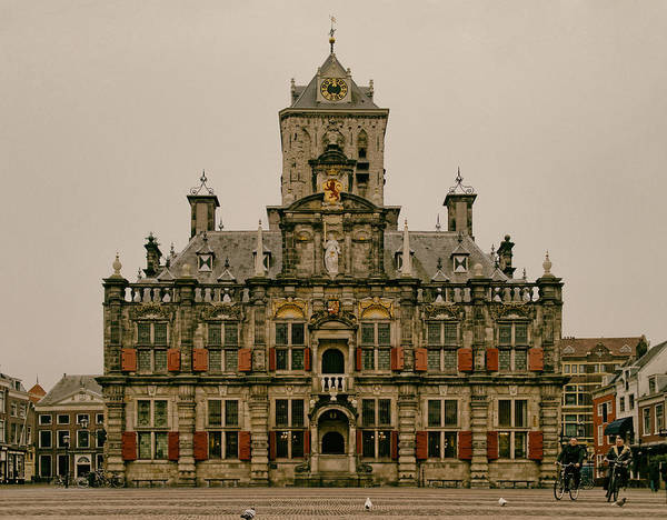 The City Hall Of Delft The Netherlands Art Print