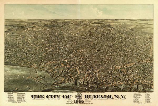 Howard Painting - The City Of Buffalo, N.y. by Edward Howard