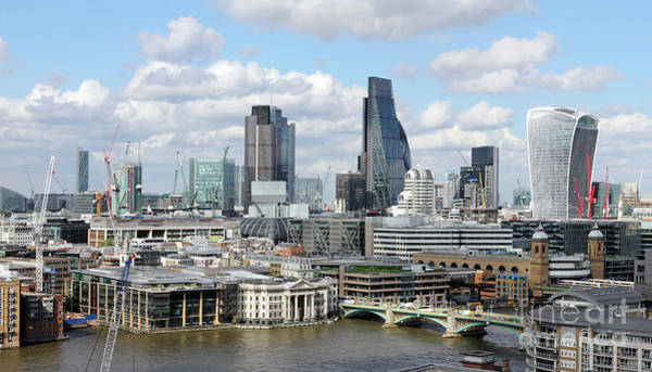 Photograph - The City Of London  by Julia Gavin