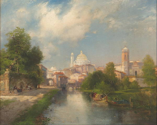 Central America Painting - The City Of Mexico  by Thomas Moran