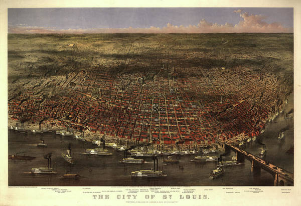 Wall Art - Painting - The City Of St. Louis by Currier