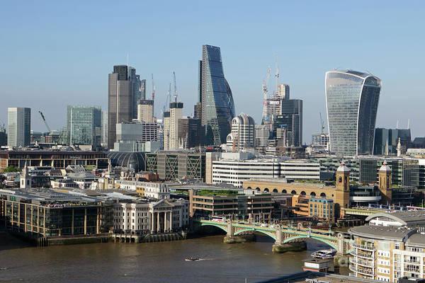 Photograph - The City Skyline London by Julia Gavin