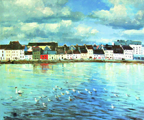 Wall Art - Painting - The Claddagh Galway by Conor McGuire