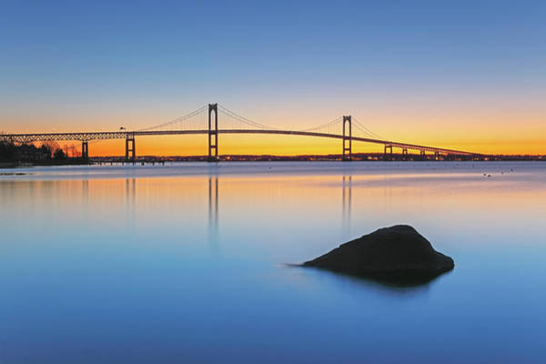 Photograph - The Claiborne Pell Bridge by Juergen Roth