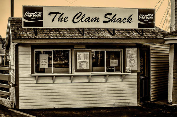 Wall Art - Photograph - The Clam Shack - Kennebunkport Maine In Sepia by Bill Cannon