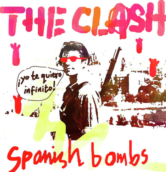 Sex Pistols Drawing - The Clash 1979 by Enki Art