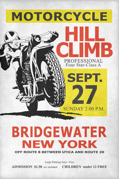 Wall Art - Photograph - The Classic Motorcycle Hill Climb by Mark Rogan