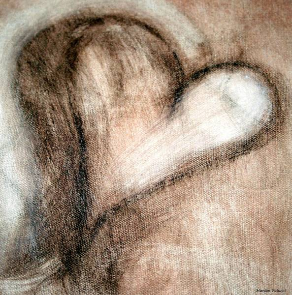Painting - The Cleansing Heart by Marian Palucci-Lonzetta