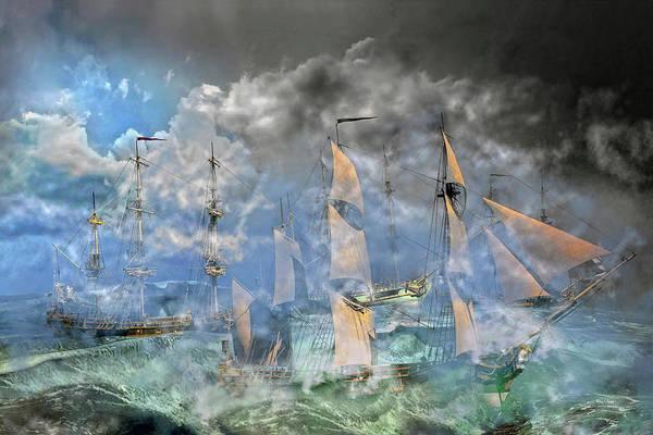 Stormy Digital Art - The Cleggan Bay Storm 1927 by Betsy Knapp