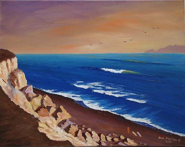 Laguna Beach Painting - The Cliffs by Bob Phillips