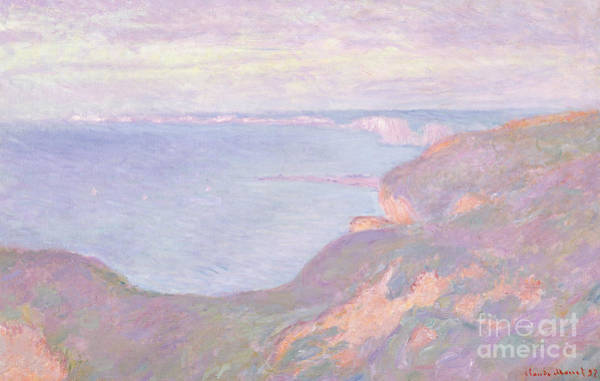 1897 Painting - The Cliffs Near Dieppe, 1897  by Claude Monet