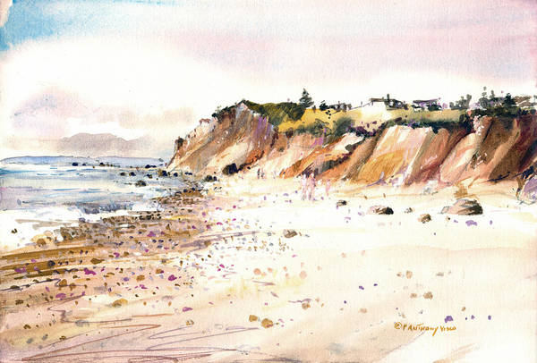 Painting - The Cliffs Of Aquinnah by P Anthony Visco