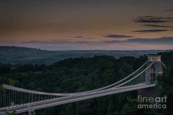 Photograph - The Clifton Suspension Bridge, Bristol England by Perry Rodriguez