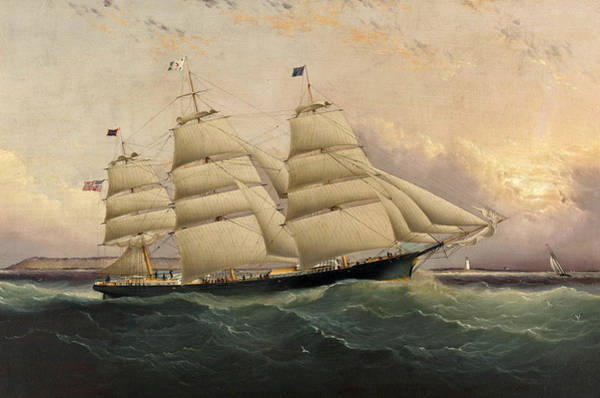 Wall Art - Painting - The Clipper Ship Sunrise by James Edward Buttersworth
