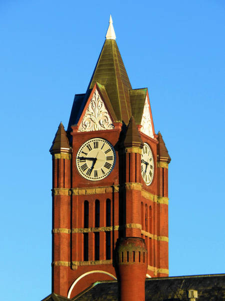 Port Townsend Digital Art - The Clock Tower Under A Blue Sky  by Glen Faxon