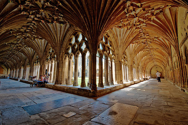 Cloister Photograph - The Cloisters Canterbury Cathedral by Donald Davis