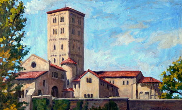 Painting - The Cloisters Sunny New York City by Thor Wickstrom