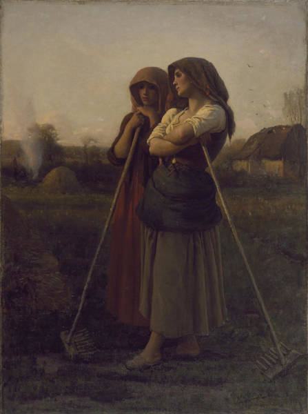 Painting - The Close Of Day by Jules Breton
