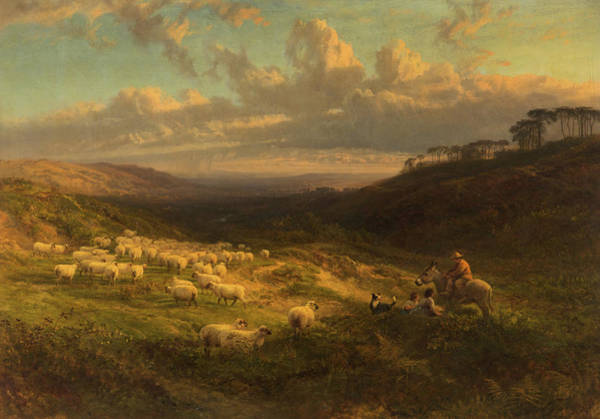 Wall Art - Painting - The Closing Day, Scene In Sussex by George Vicat Cole