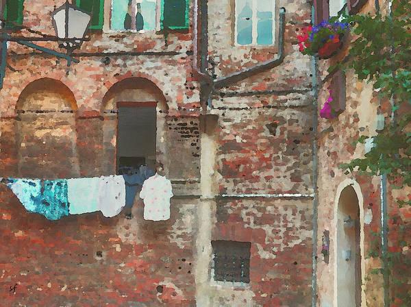 Digital Art - The Clothesline by Shelli Fitzpatrick
