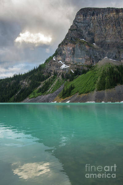 Vermillion Lakes Wall Art - Photograph - The Cloud And The Rock by Mike Reid